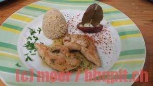 Glasierte Hühnerfilets mit Quinoa