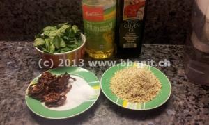 Zutaten für Pesto ohne Käse