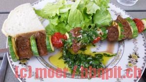 Argentinischer Rinderspiess mit Chimichurri-Sauce